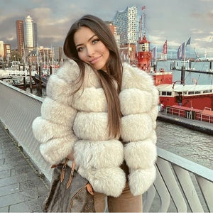 Luxury Faux Fur Jacket - Bear Coat