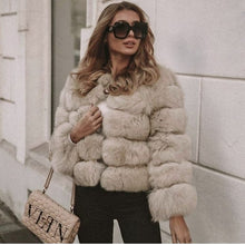 Load image into Gallery viewer, Luxury Faux Fur Jacket - Bear Coat