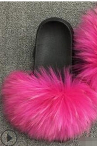 Gill faux fur sliders