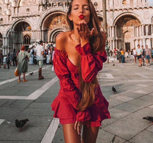Load image into Gallery viewer, Florance Red Summer Dress