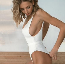 Load image into Gallery viewer, Ribbed Swimsuit in White - Hanna  Swimsuit