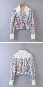 Long Sleeve Print Blouse - Freya