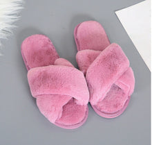 Load image into Gallery viewer, Fiona Faux Fur  Slippers