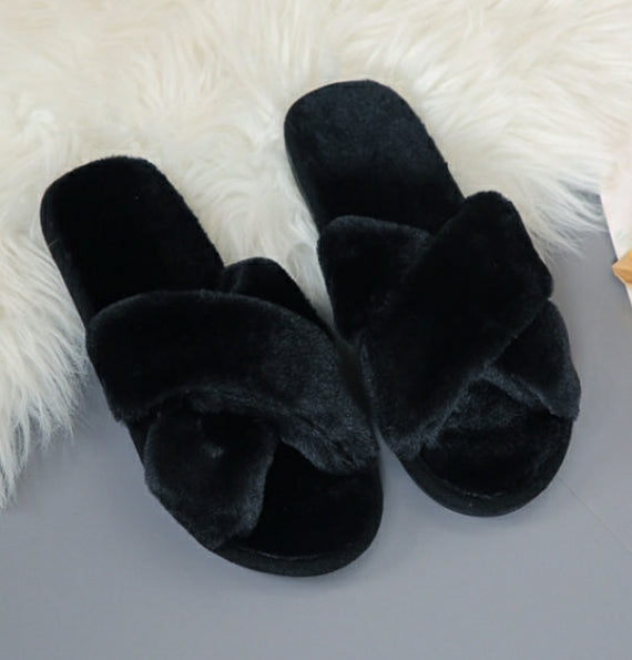 Fiona Faux Fur  Slippers
