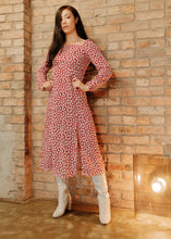 Load image into Gallery viewer, Aahana -  Long Sleeve Midi Dress