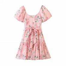 Load image into Gallery viewer, Romantic Style Pink Floral Dress - Abbie Dress