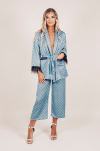 Gracie Two Piece Kimono Jacket and Flare Trouser