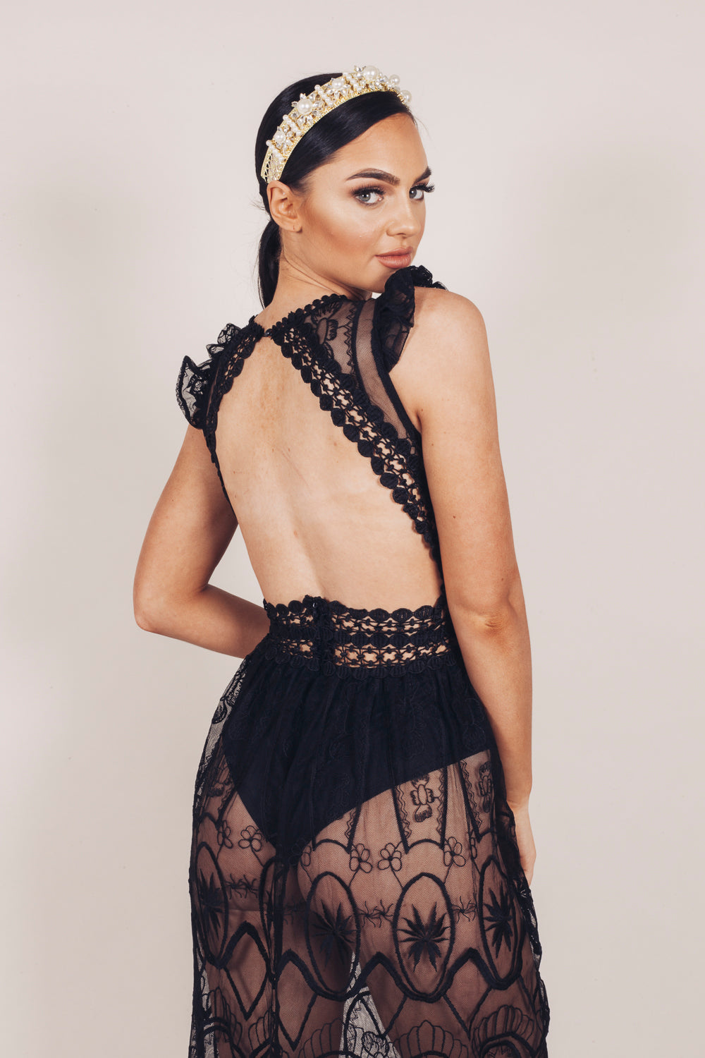 Sazzy Dress Black Lace