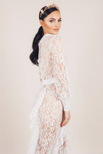 Load image into Gallery viewer, Gabi Transparent Lace Jumpsuit