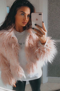 Sile Shaggy Faux Fur Coat