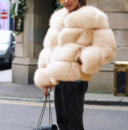 Aviary Faux Fur Cream Coat