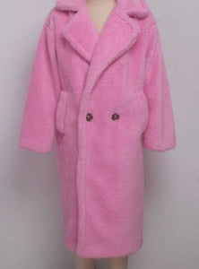 Tillie Pink  Teddy Coat