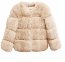 Load image into Gallery viewer, Aviary Faux Fur Cream Coat