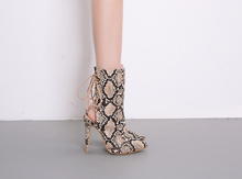 Load image into Gallery viewer, Sam  Snake Print Boots