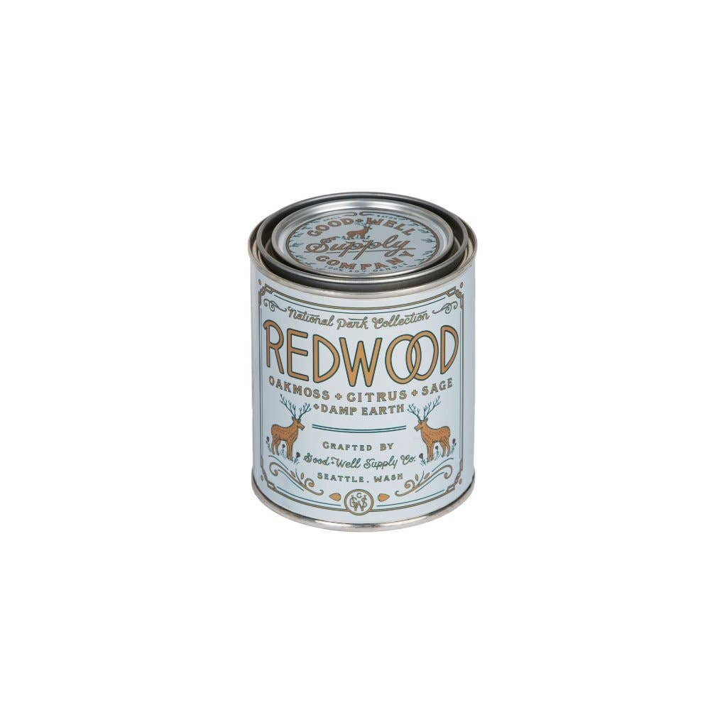 Good & Well Supply Co. - Redwood Candle - Oakmoss, Sage, Citrus & Damp Earth