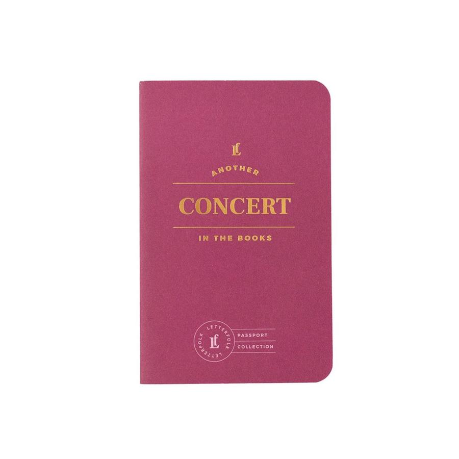Letterfolk - Concert Passport Journal