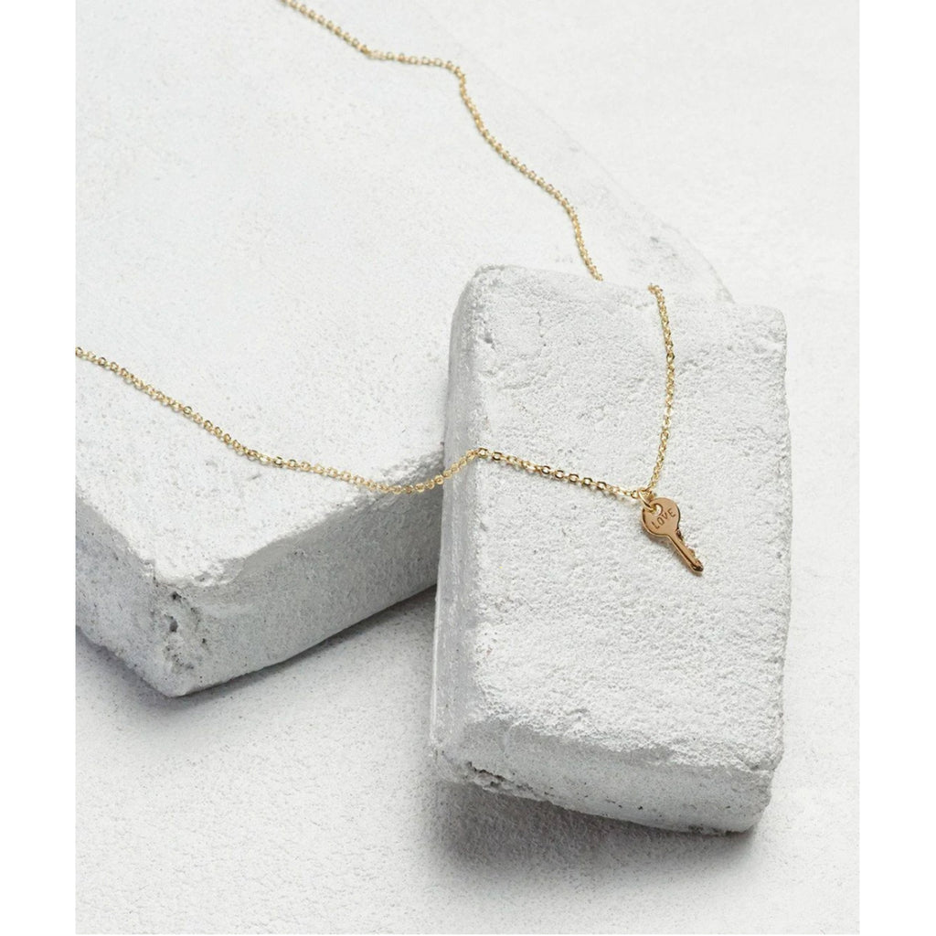 Mini Key Necklace - Gold