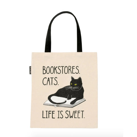 Bookstore Cat Tote Bag