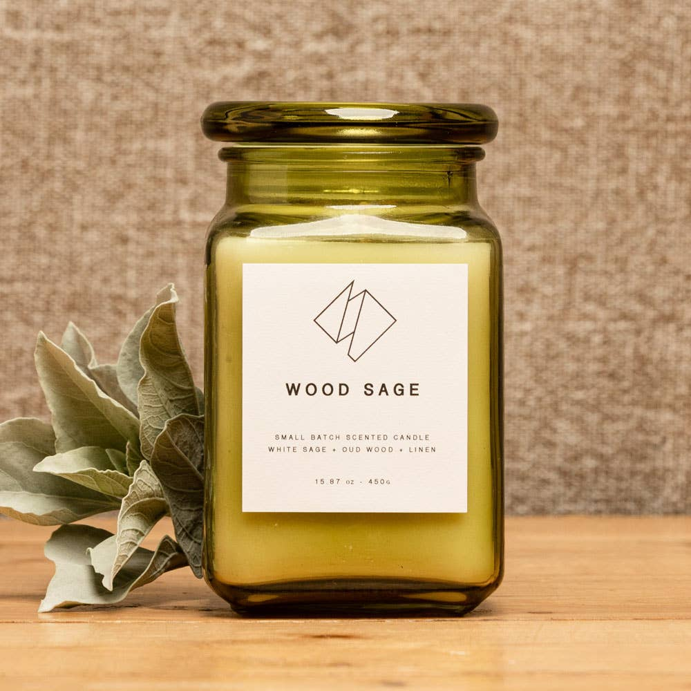 Wood Sage Scented Candle