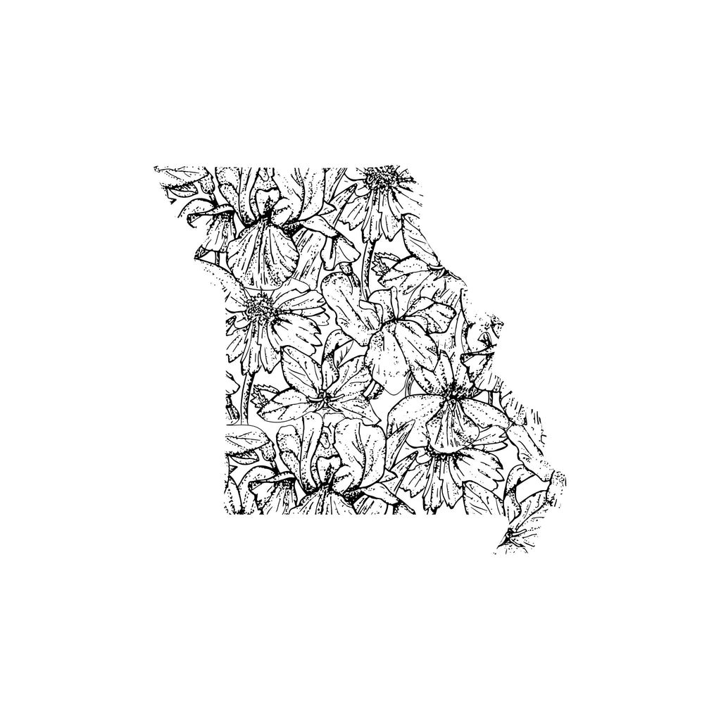 Missouri Flower Sticker
