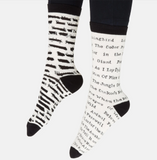 Banned Books Literary Socks