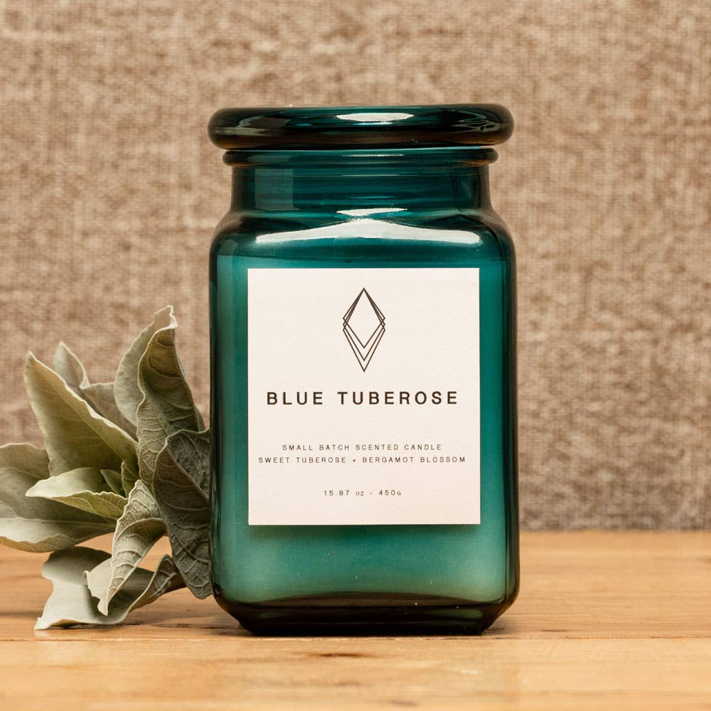 Blue Tuberose Scented Candle