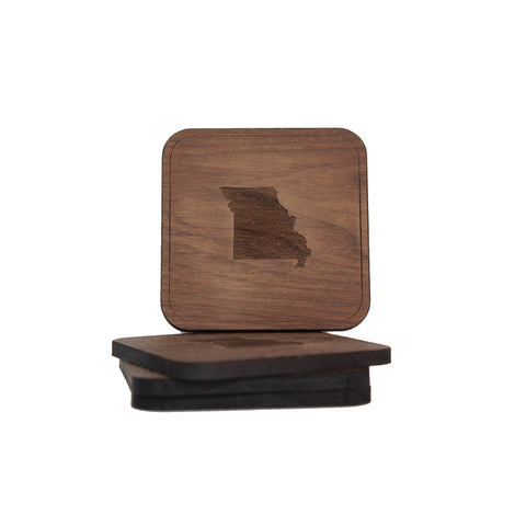 Wooden Missouri Coaster Set