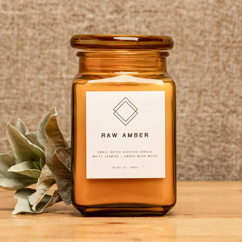 Raw Amber Scented Candle
