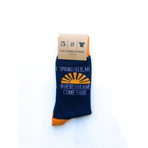 Dreams Come True Socks - Navy/Orange