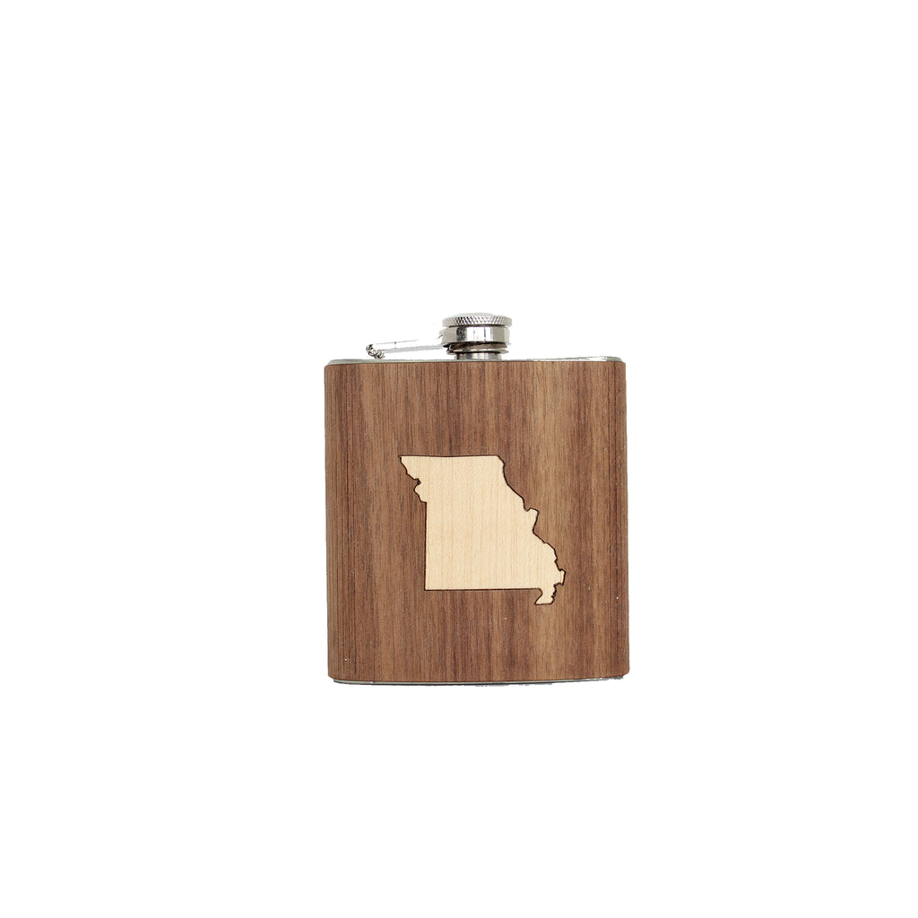 Wooden Missouri Flask