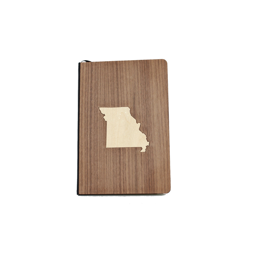 Wooden Missouri Notebook
