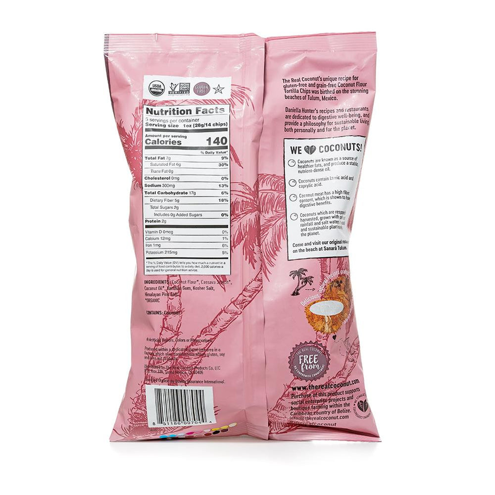 HIMALAYAN PINK SALT Organic Coconut Flour Tortilla Chips 155g (6 Packs)