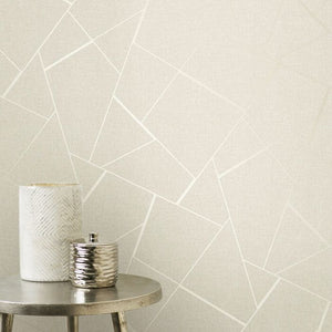Fine Decor Quartz Fractal geometrisk tapet