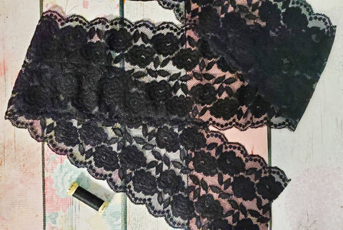 "Stretch Lace 5.5"" Double Galloon - Black A1 Available Now"