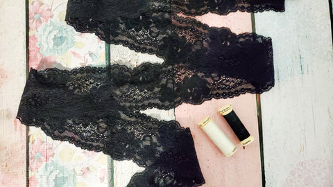 "Stretch Lace 5.5"" Double Galloon - Black A2 Available Now"