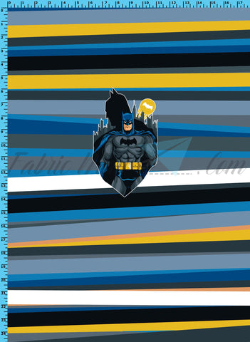 R33 - Caped Crusader Panel Cotton Spandex Jersey Knit (sizes available) Available Now