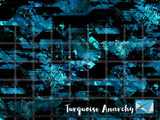 R44 - Turquoise Anarchy - (Choose Fabric Base) Available Now
