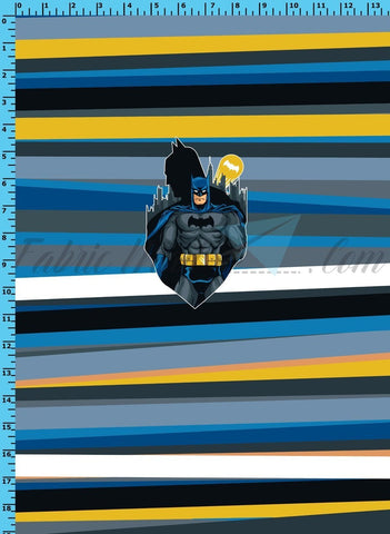 R33 - Caped Crusader Panel Cotton Spandex Jersey Knit (sizes available)