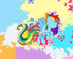 Rainbow Dash Panel - Cotton Spandex Jersey Knit