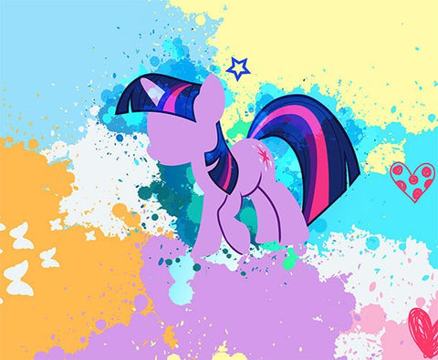 Twilight Sparkle Panel - Cotton Spandex Jersey Knit