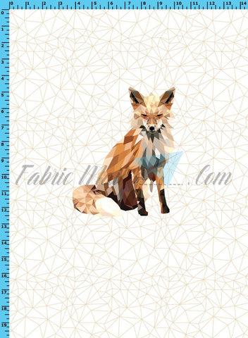 R33 - Geo Fox Panel  Cotton Spandex Jersey Knit (sizes available)