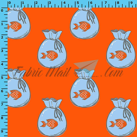 R39 - Fish in Bags (Choose Fabric Base) Available Now