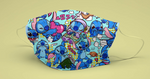 R53 - Stitches Blue - (Choose Fabric Base) Pre Order