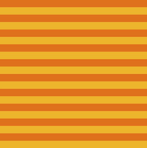 Yarn Dyed Stripes - Orange - Cotton Spandex Jersey