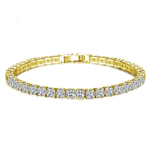 Bracelet Gold Crystal