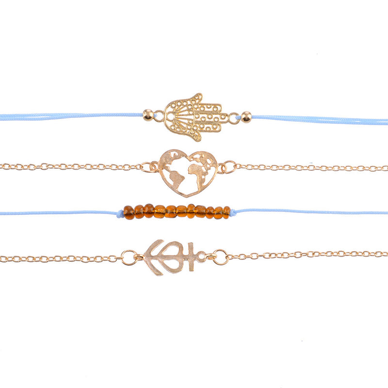 Bracelet Set Golden Flow