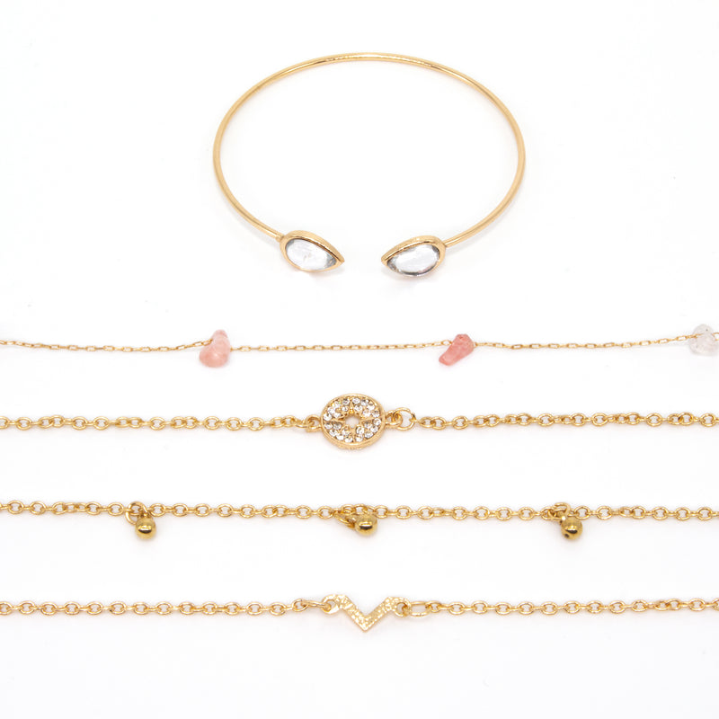 Bracelet Set Golden Brick