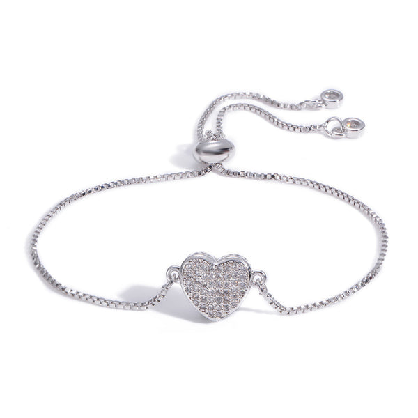Bracelet Crystal Heart