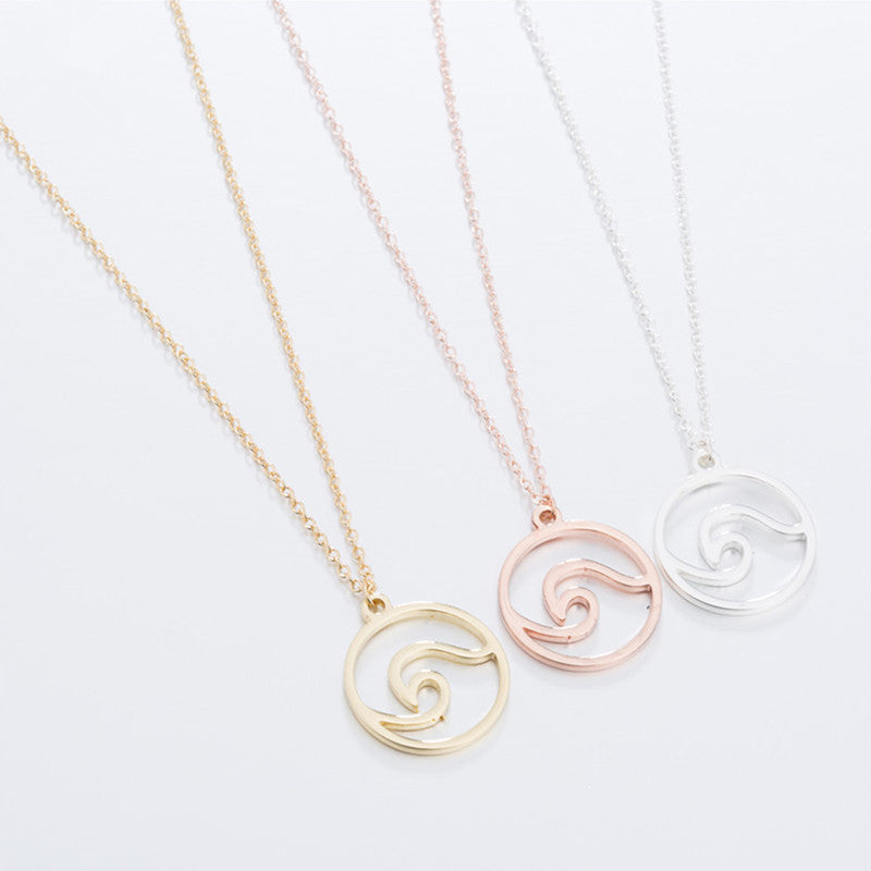 Necklace Wave Rose