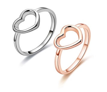 Engelsinn Ring Amour - Set Rose & Silver